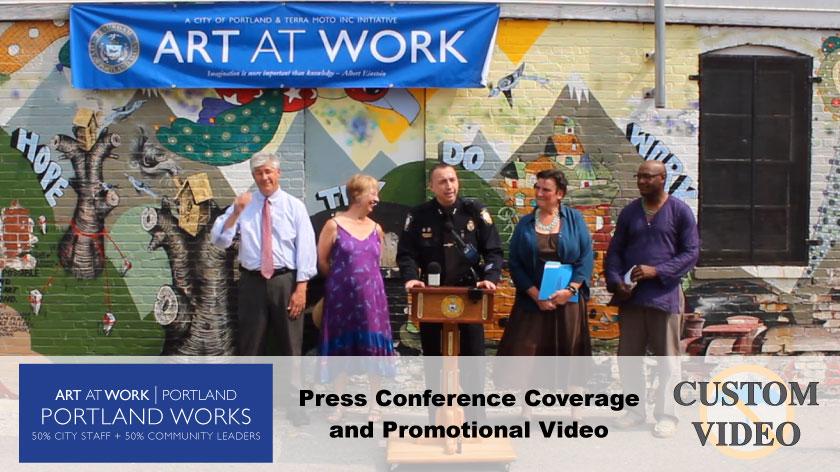No Umbrella--Art at Work promo video