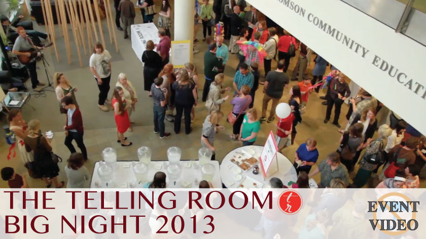 No Umbrella--Telling Room's Big Night 2013 event video